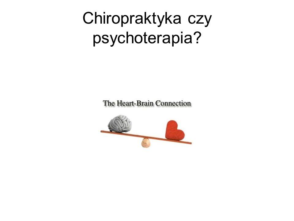 Chiropraktyka czy psychoterapia