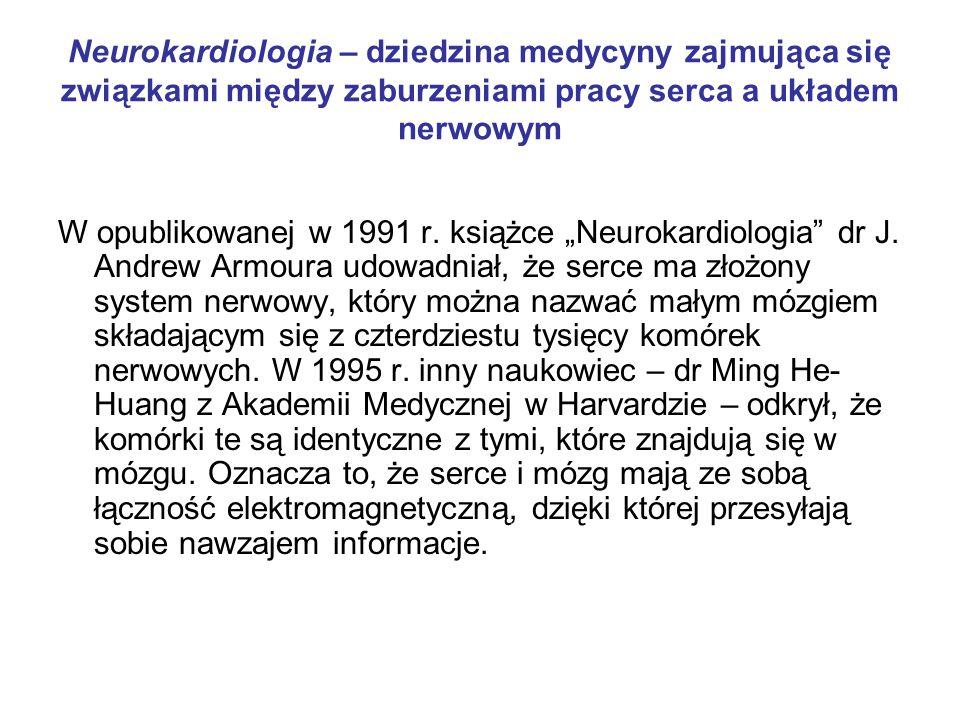Neurokardiologia – dziedzina medycyny zajmująca się związkami między zaburzeniami pracy serca a układem nerwowym