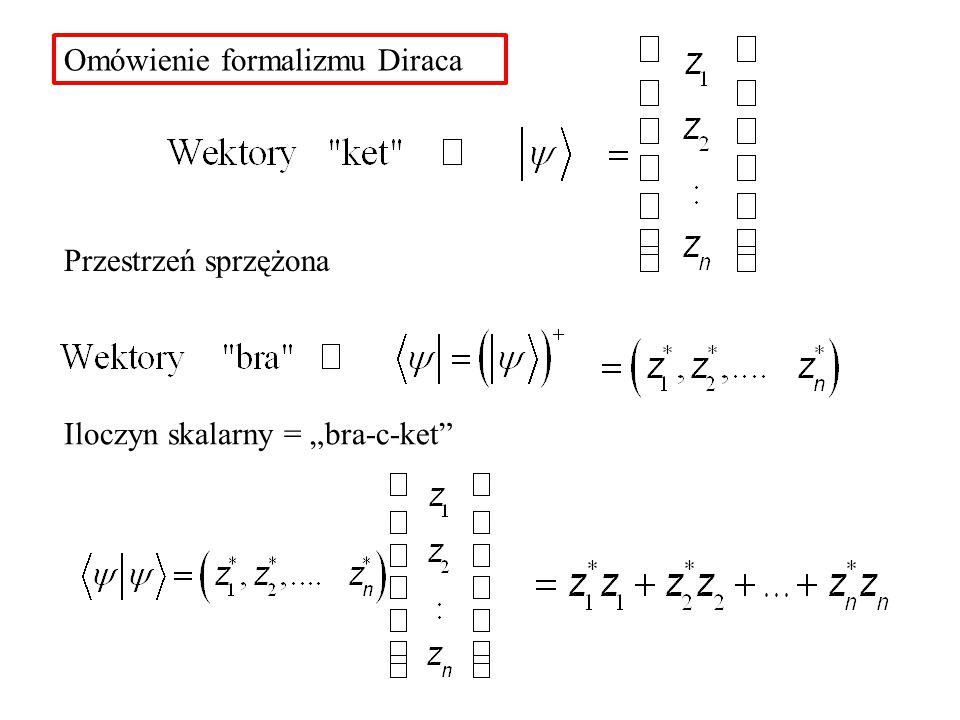 Omówienie formalizmu Diraca