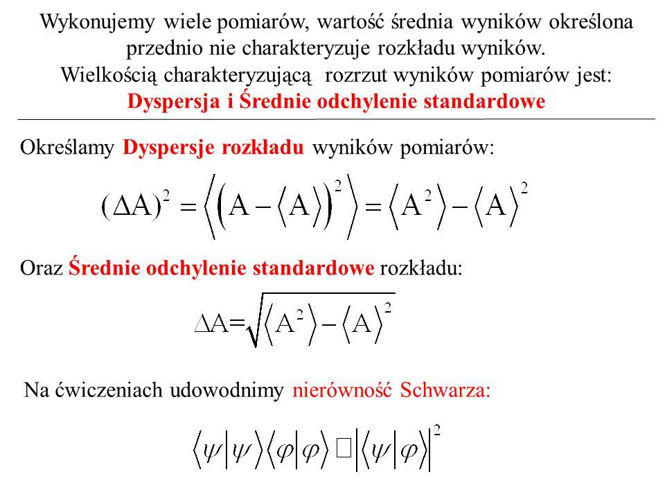 Dyspersja i Średnie odchylenie standardowe