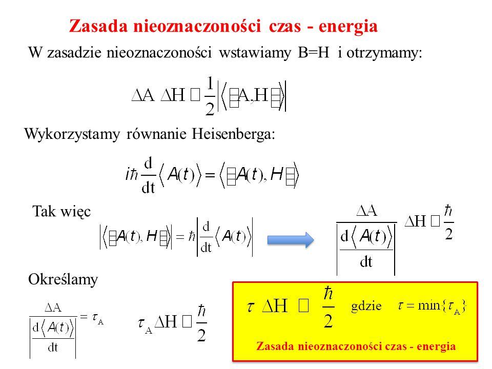 Zasada nieoznaczoności czas - energia