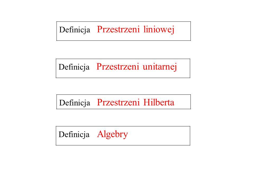 Definicja Przestrzeni liniowej