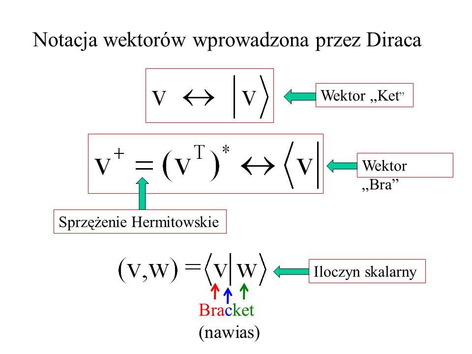Notacja wektorów wprowadzona przez Diraca