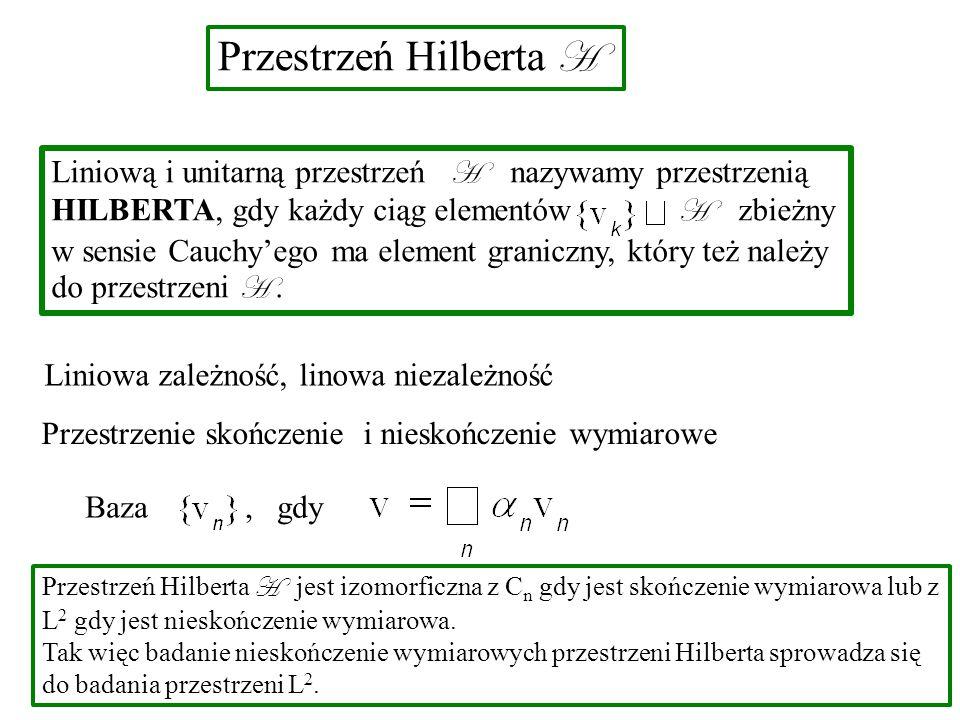 Przestrzeń Hilberta H