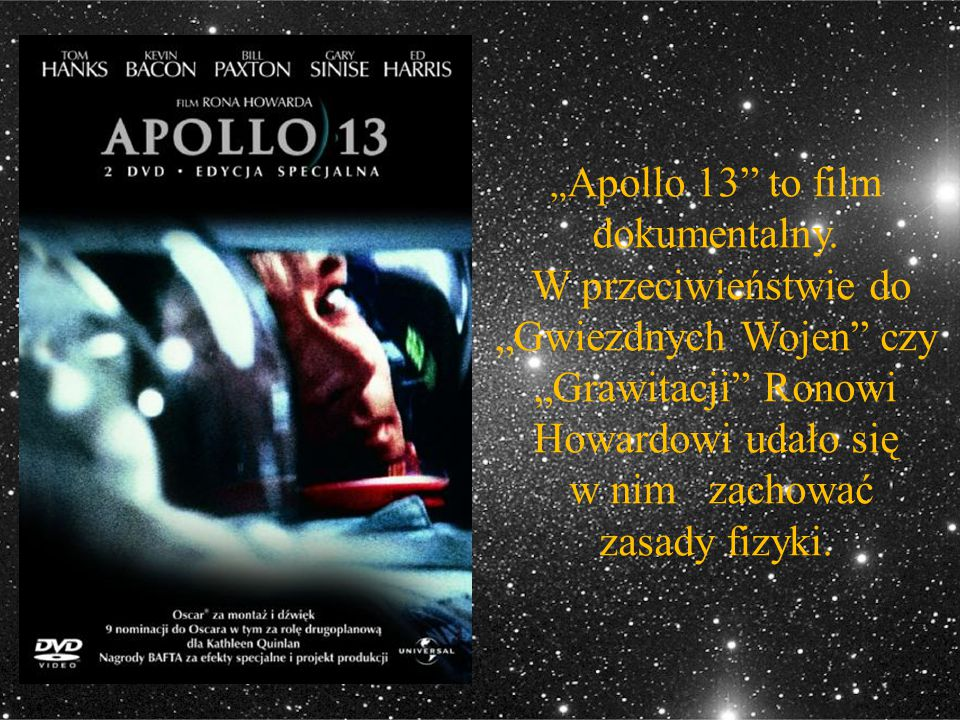 """Apollo 13 to film dokumentalny"