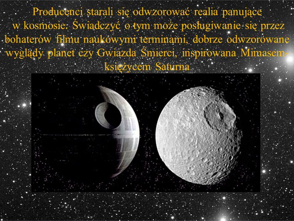 Producenci starali się odwzorować realia panujące w kosmosie