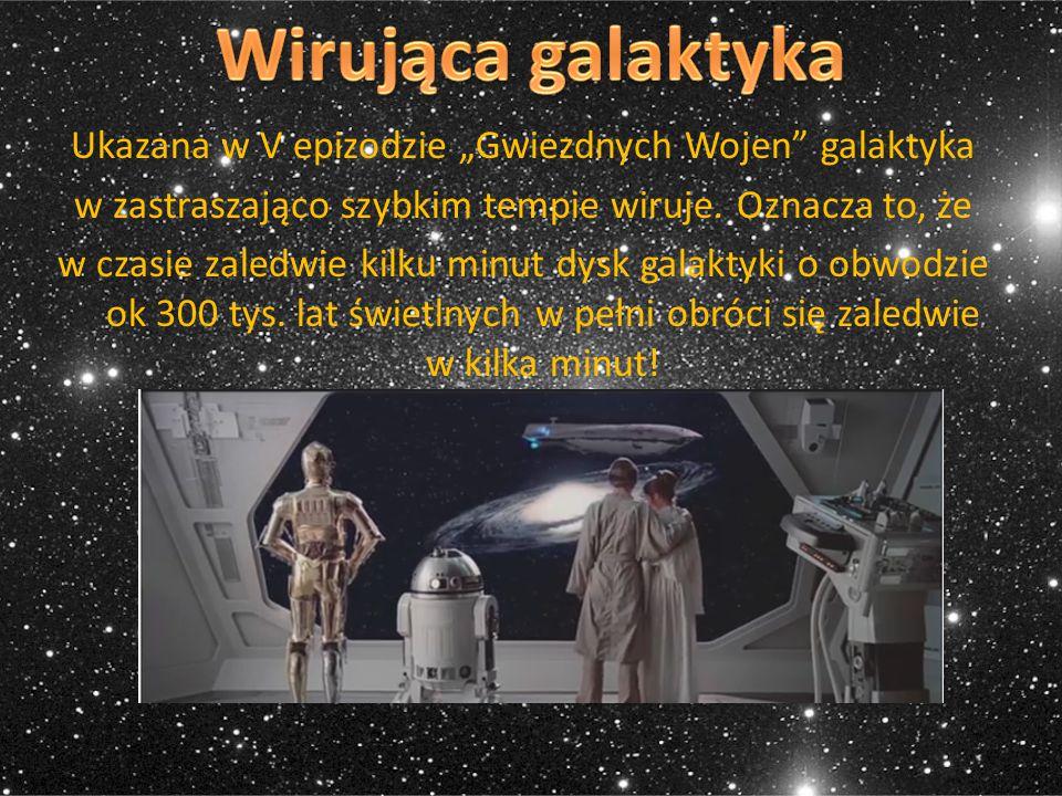 """Wirująca galaktyka Ukazana w V epizodzie """"Gwiezdnych Wojen galaktyka"""