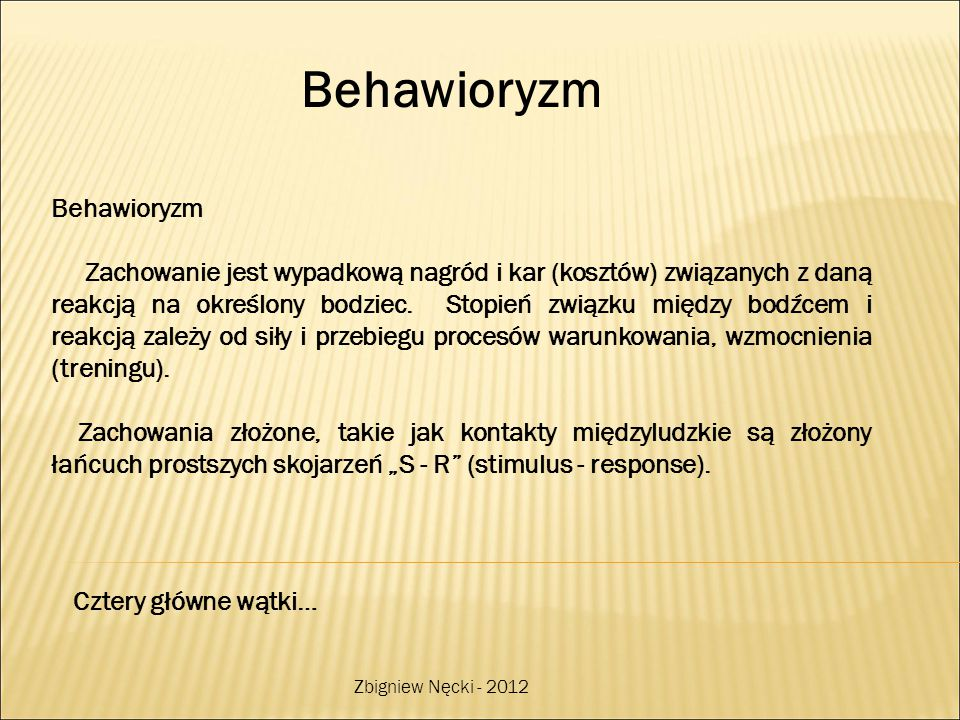Behawioryzm Behawioryzm
