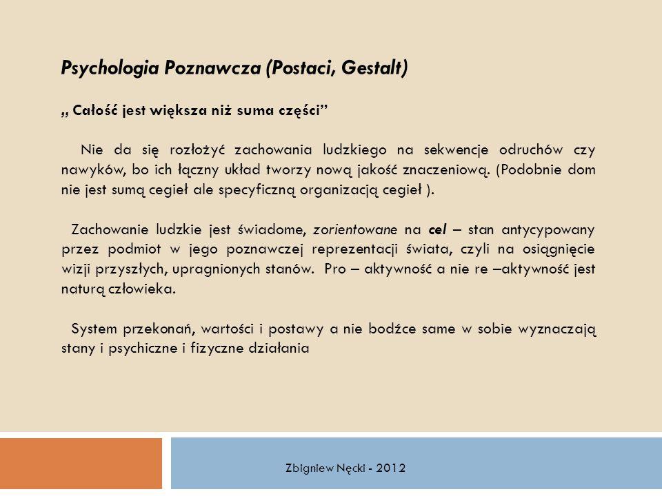 Psychologia Poznawcza (Postaci, Gestalt)