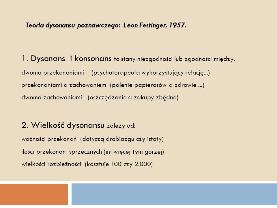 1. Dysonans i konsonans to stany niezgodności lub zgodności między: