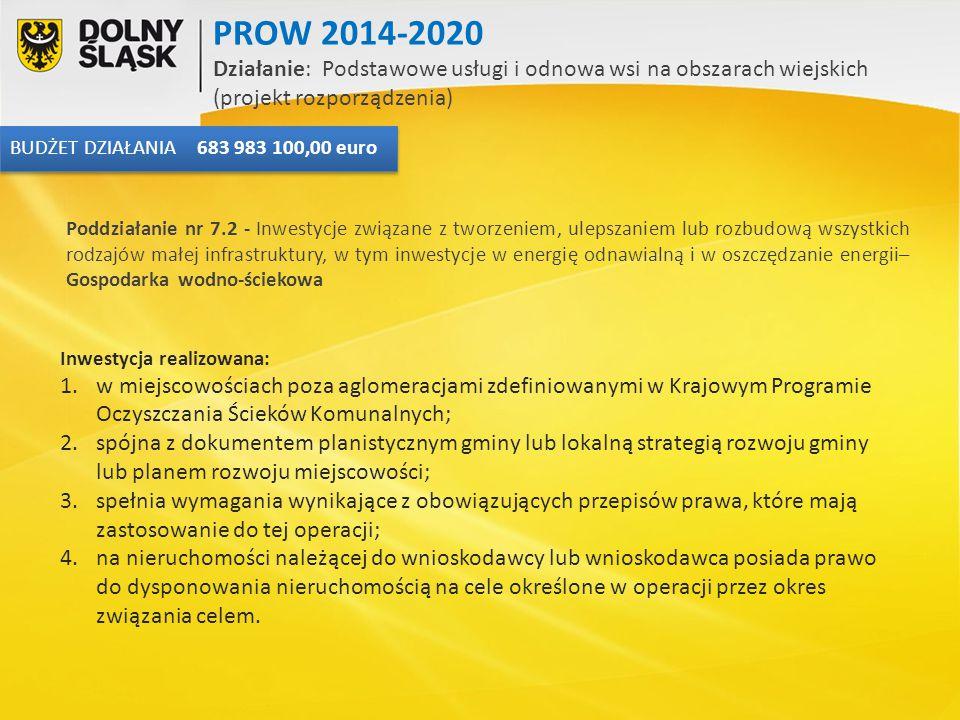 PROW 2014-2020 Działanie: Podstawowe usługi i odnowa wsi na obszarach wiejskich (projekt rozporządzenia)