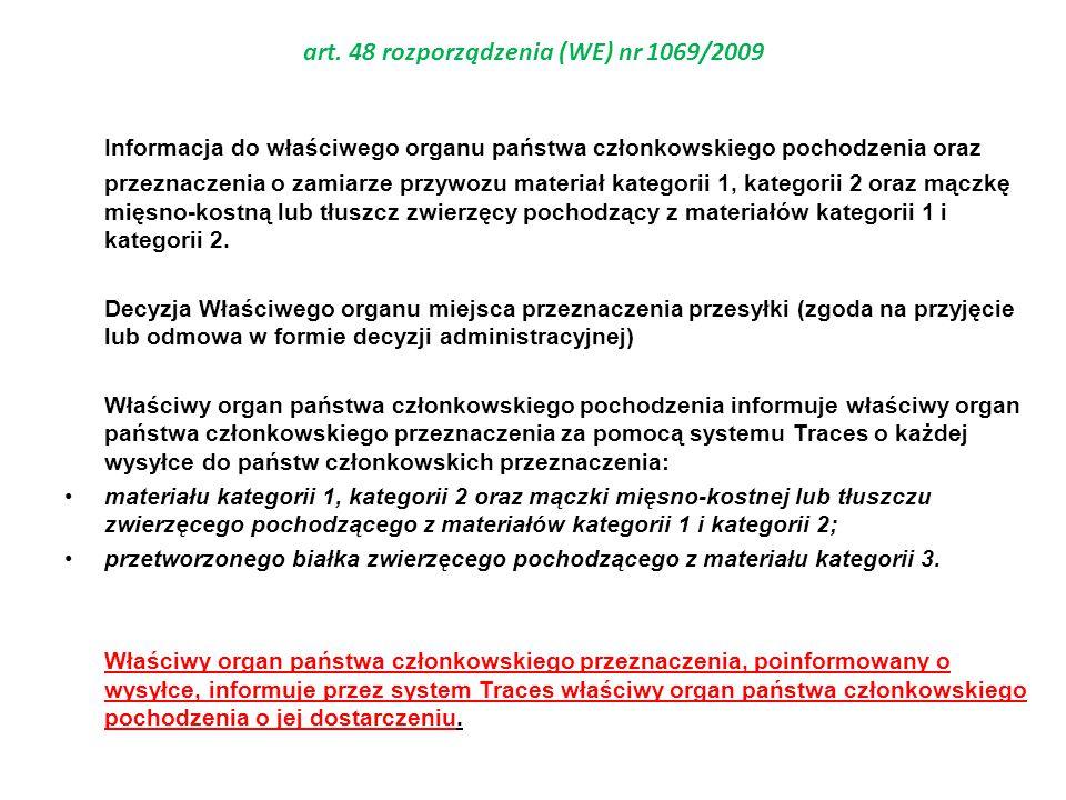 art. 48 rozporządzenia (WE) nr 1069/2009