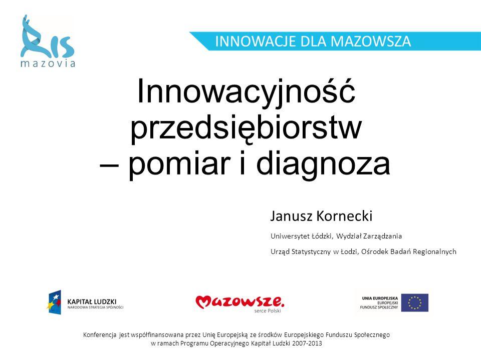 Innowacyjność przedsiębiorstw – pomiar i diagnoza