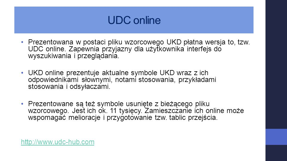 UDC online
