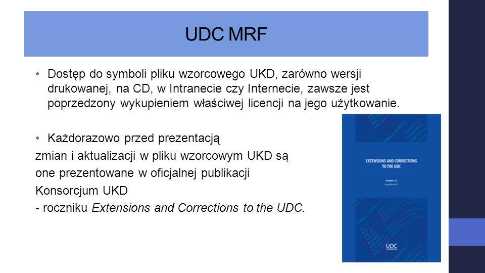 UDC MRF