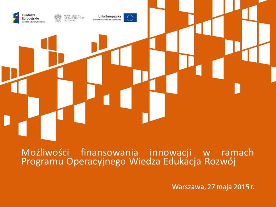 Możliwości finansowania innowacji w ramach Programu Operacyjnego Wiedza Edukacja Rozwój