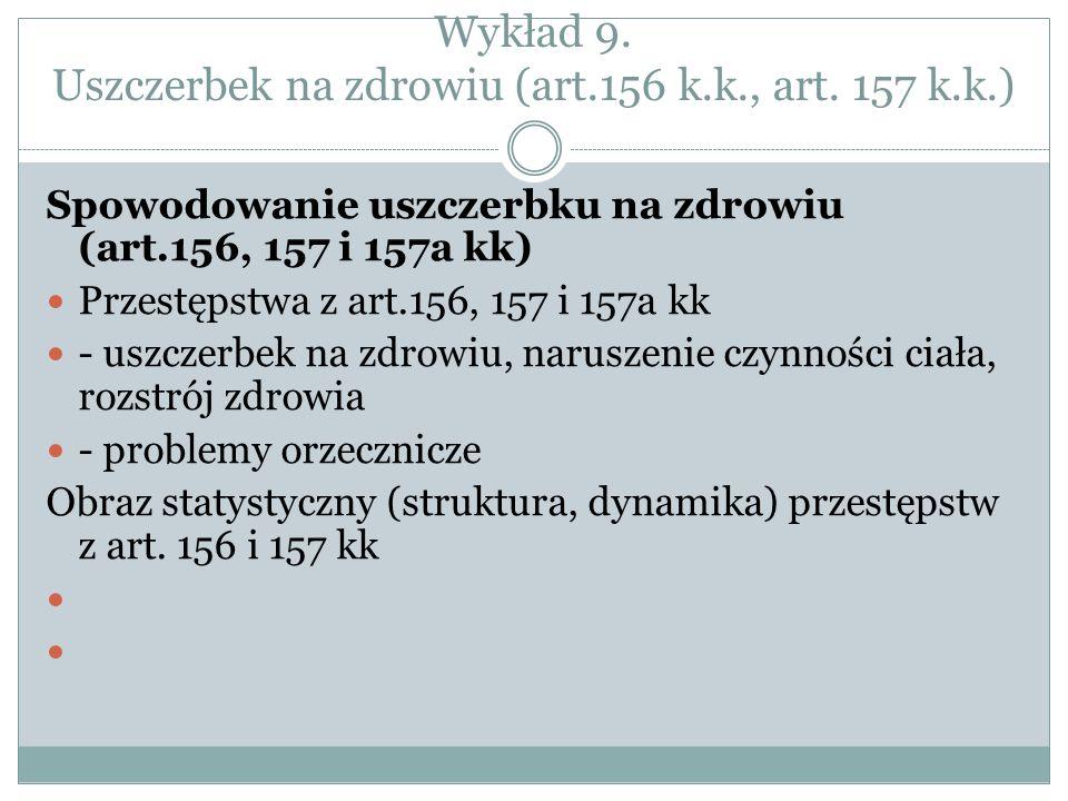 Wykład 9. Uszczerbek na zdrowiu (art.156 k.k., art. 157 k.k.)
