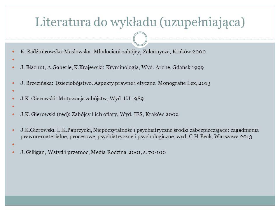 Literatura do wykładu (uzupełniająca)