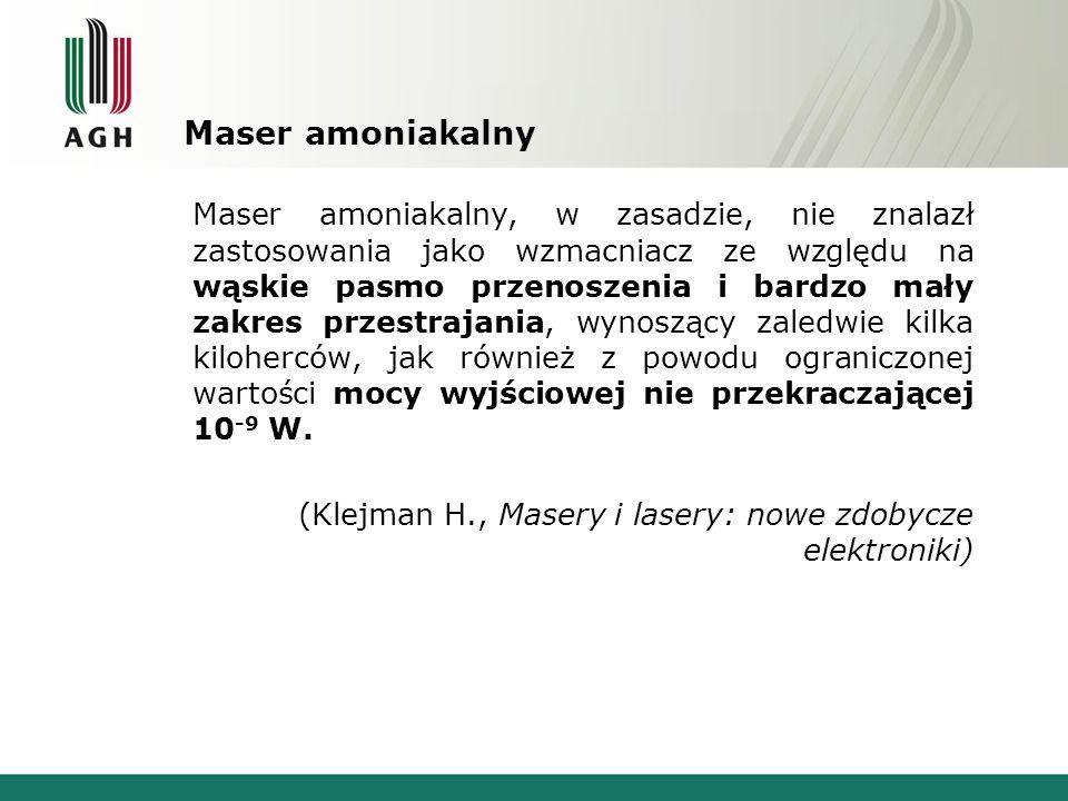 Maser amoniakalny