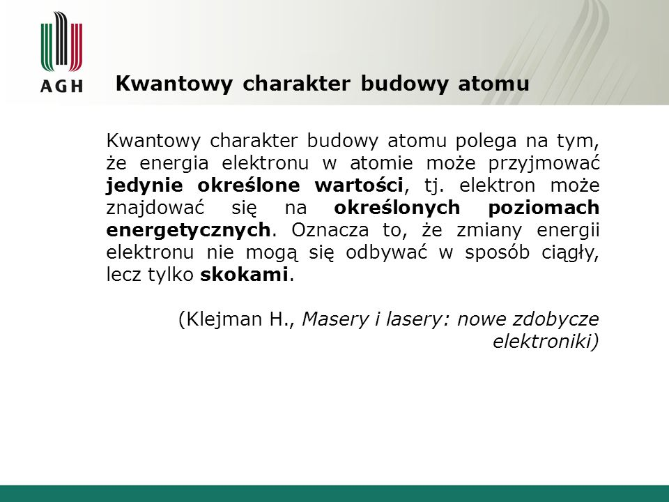 Kwantowy charakter budowy atomu