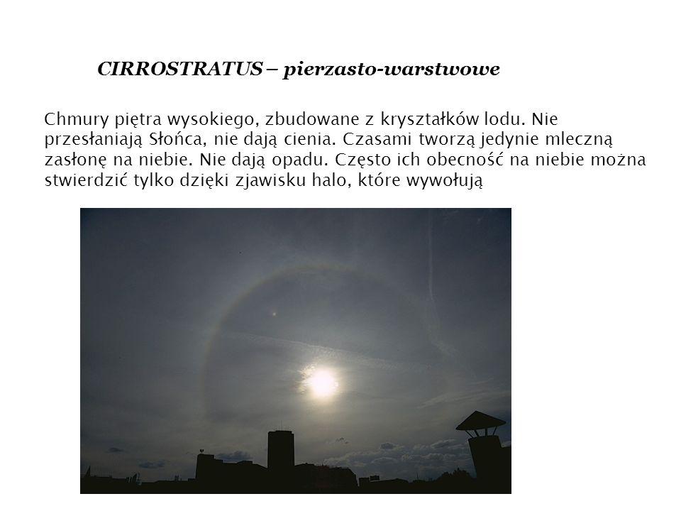 CIRROSTRATUS – pierzasto-warstwowe