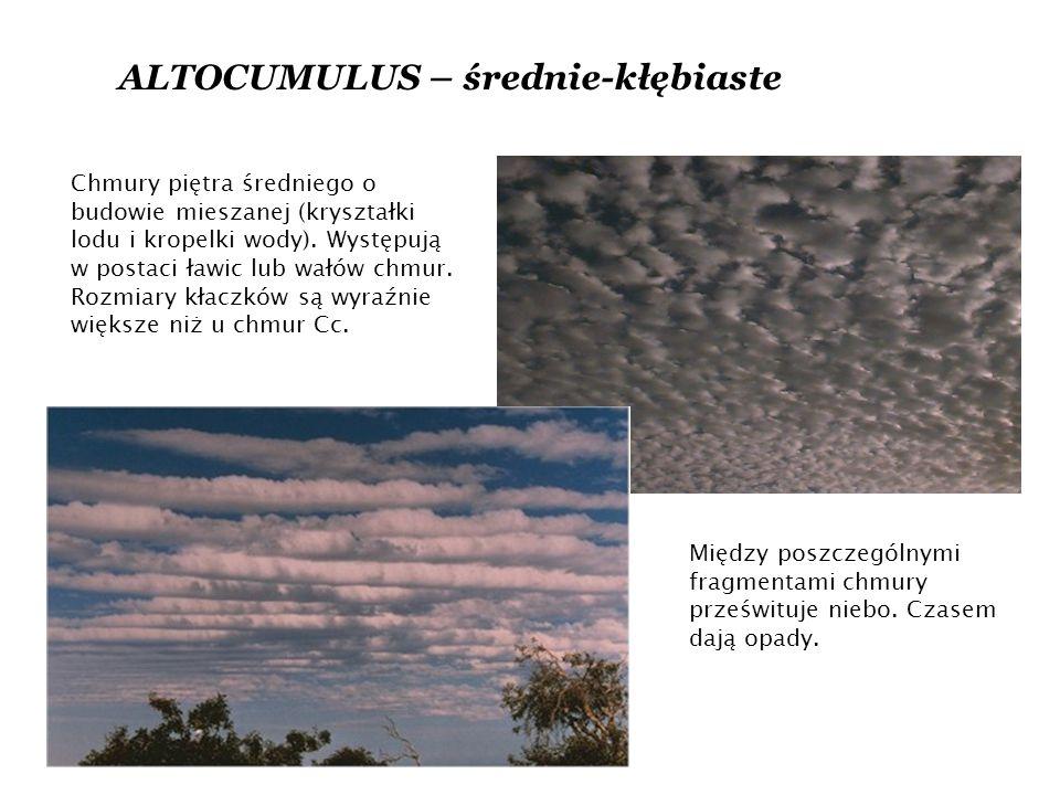 ALTOCUMULUS – średnie-kłębiaste