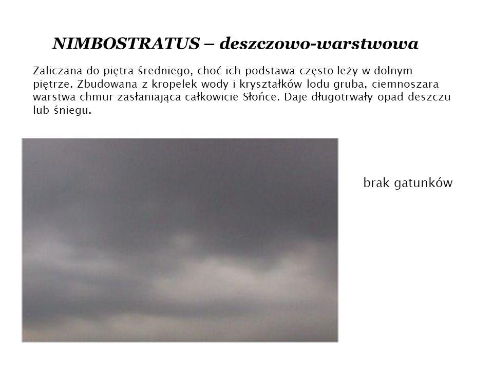 NIMBOSTRATUS – deszczowo-warstwowa