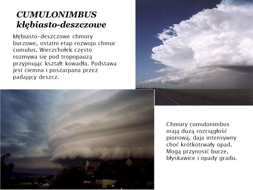 CUMULONIMBUS kłębiasto-deszczowe