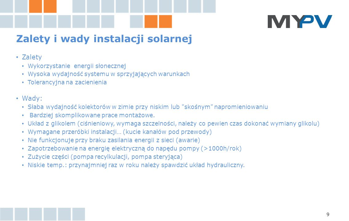 Zalety i wady instalacji solarnej