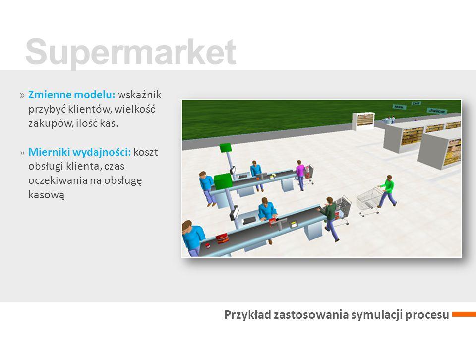 Supermarket Przykład zastosowania symulacji procesu