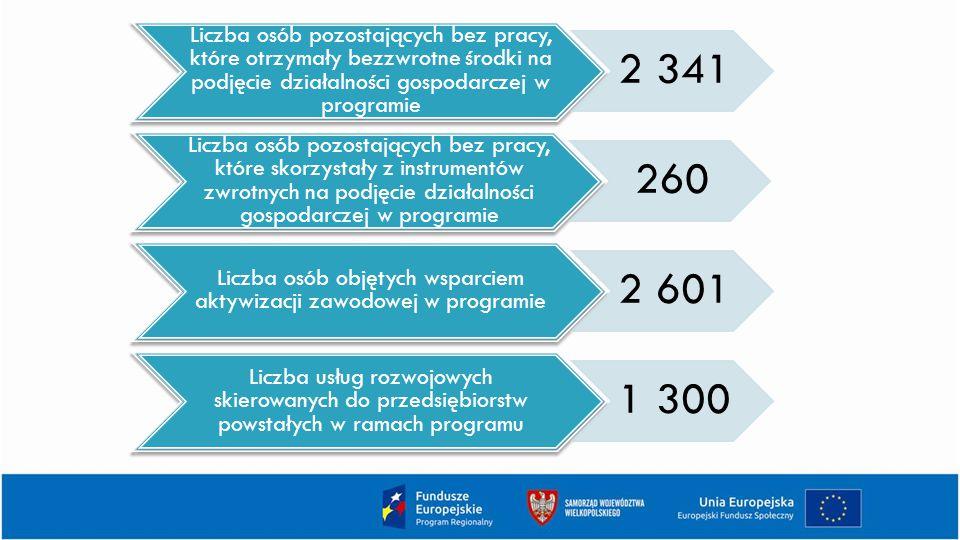 Liczba osób objętych wsparciem aktywizacji zawodowej w programie