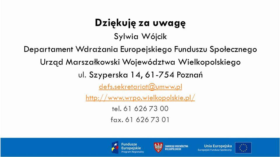 Dziękuję za uwagę Sylwia Wójcik