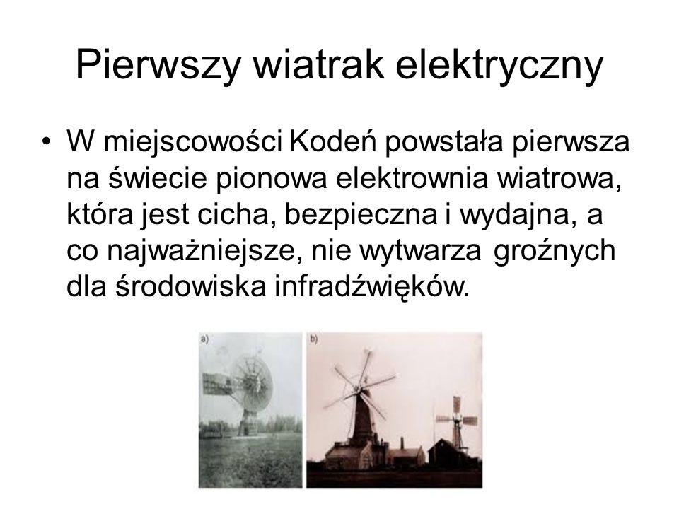 Pierwszy wiatrak elektryczny