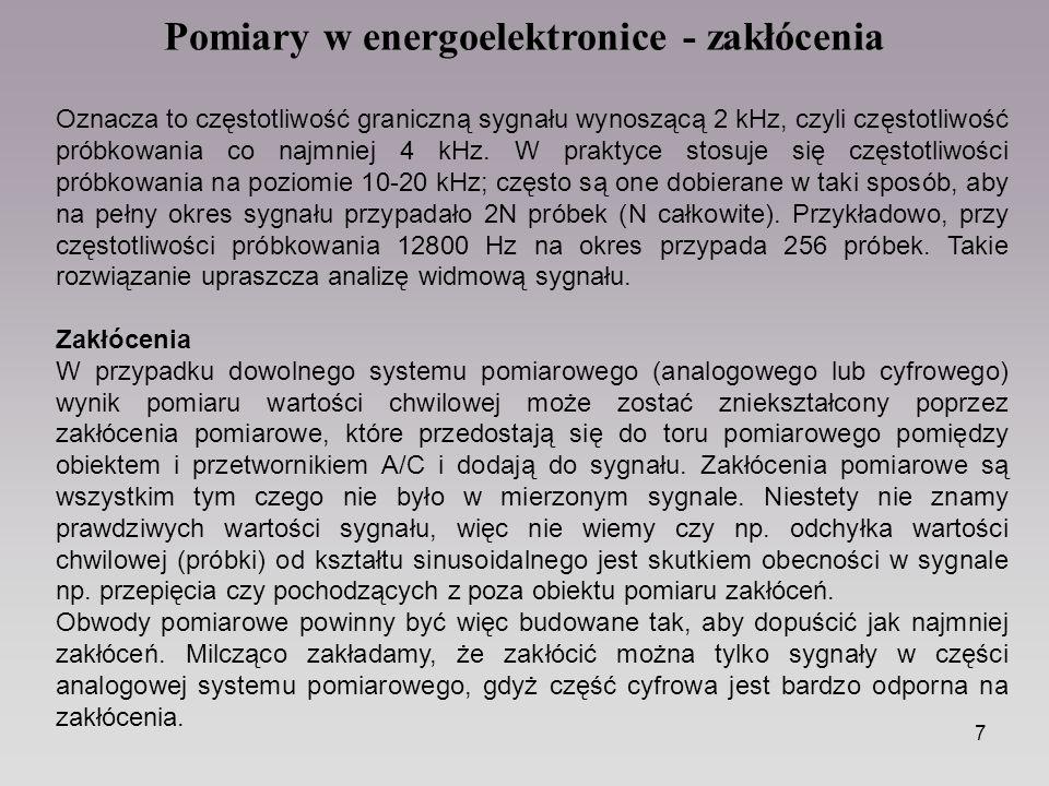 Pomiary w energoelektronice - zakłócenia