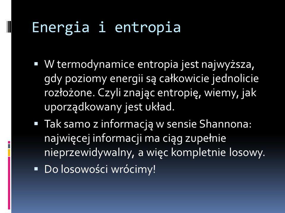 Energia i entropia