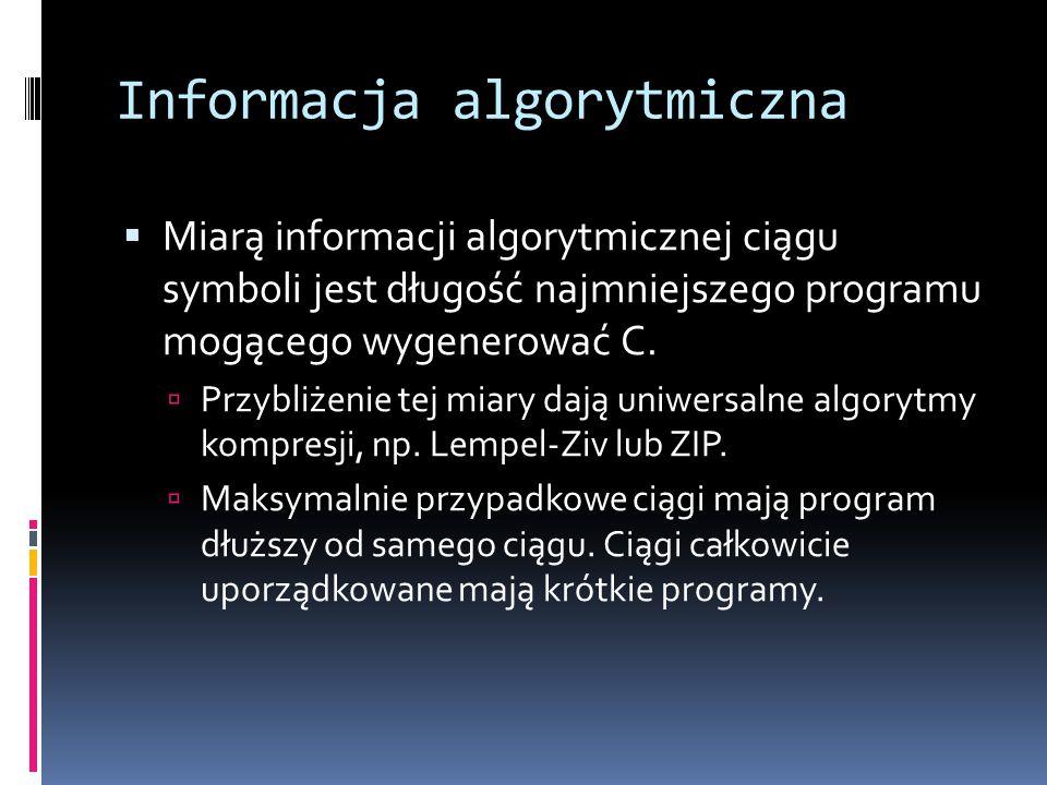 Informacja algorytmiczna