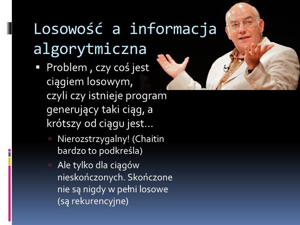 Losowość a informacja algorytmiczna