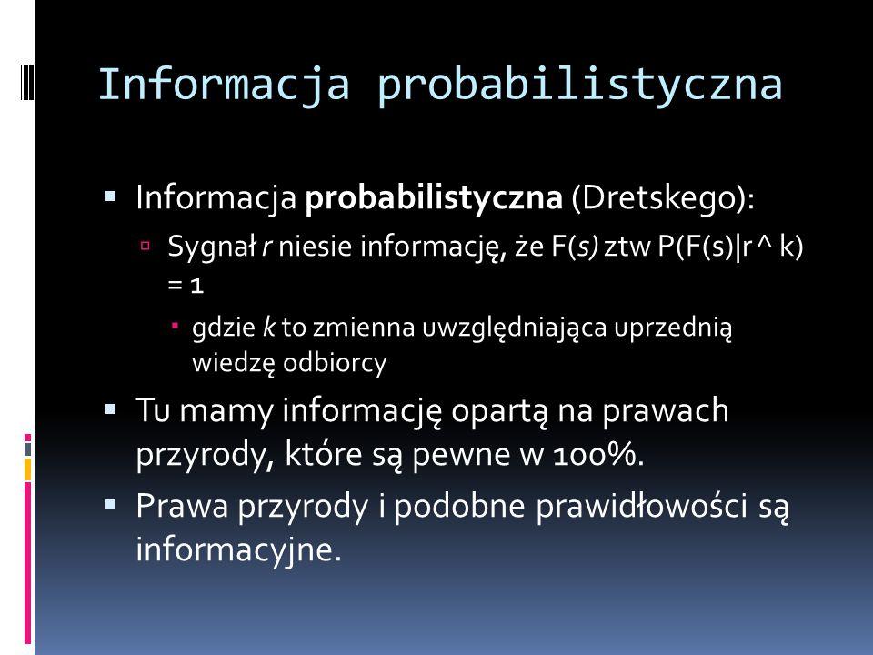 Informacja probabilistyczna
