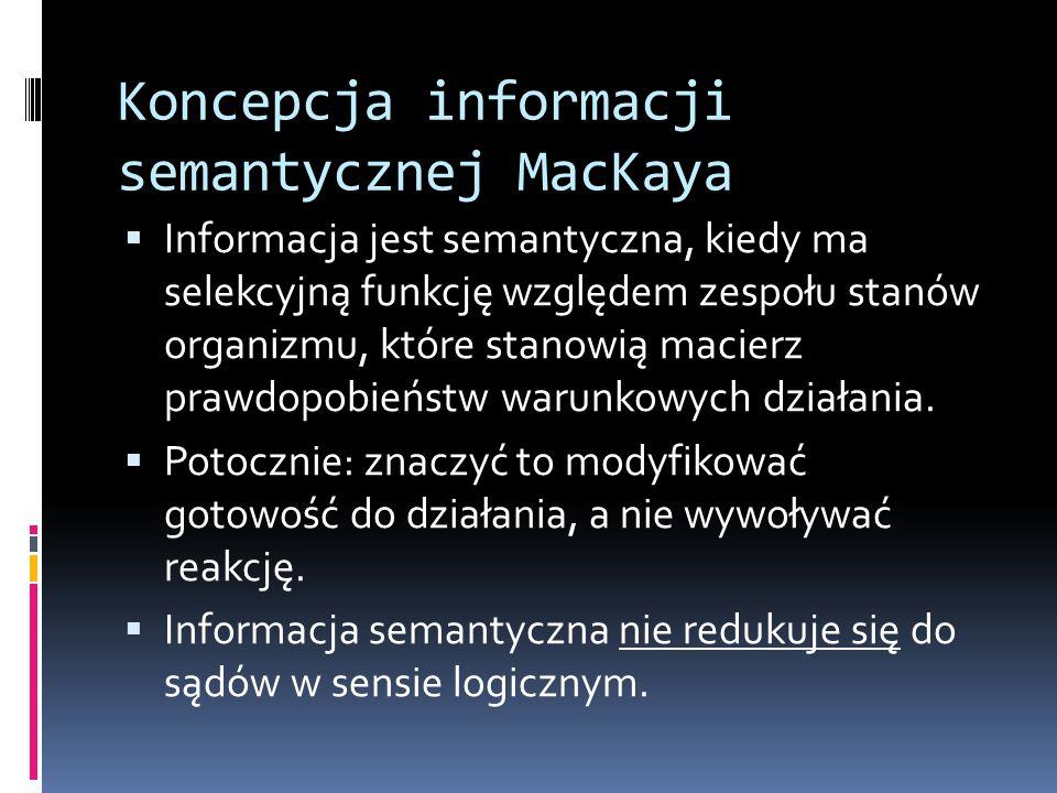 Koncepcja informacji semantycznej MacKaya