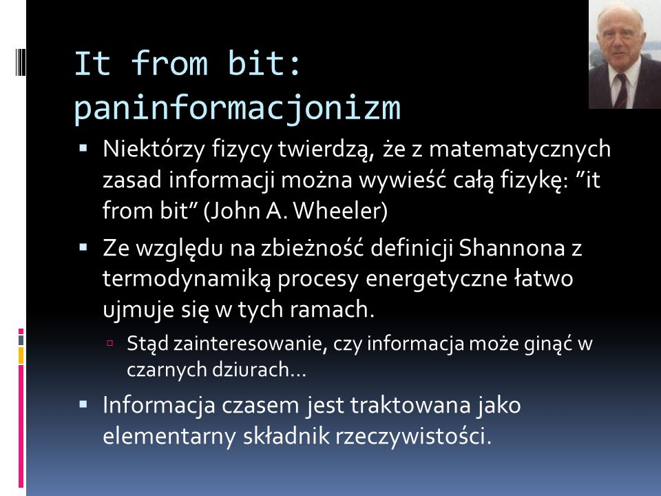 It from bit: paninformacjonizm