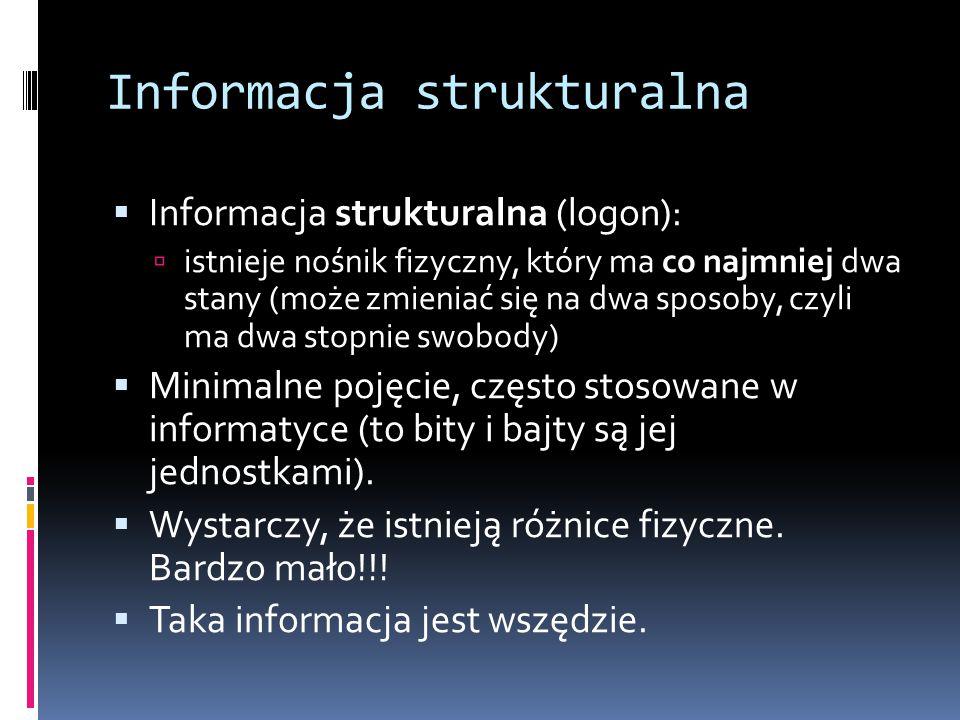 Informacja strukturalna
