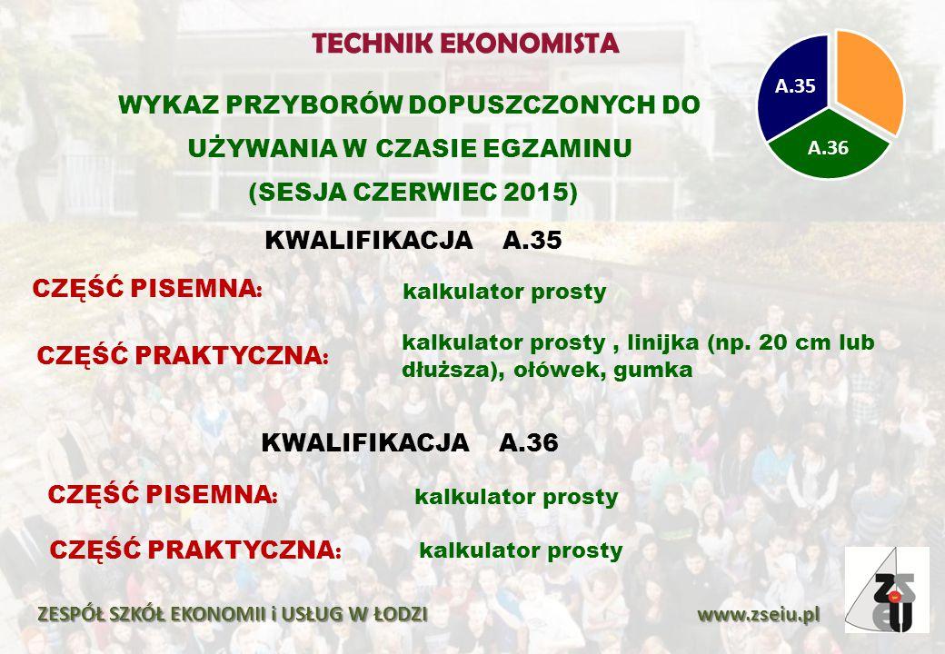 ZESPÓŁ SZKÓŁ EKONOMII i USŁUG W ŁODZI www.zseiu.pl