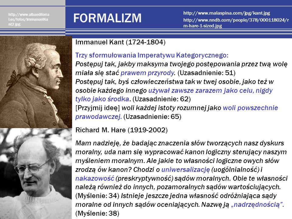 FORMALIZM Immanuel Kant (1724-1804)