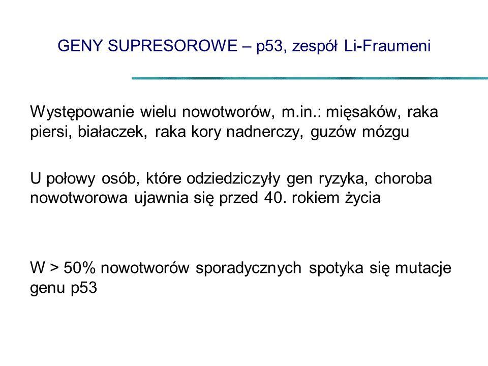 GENY SUPRESOROWE – p53, zespół Li-Fraumeni