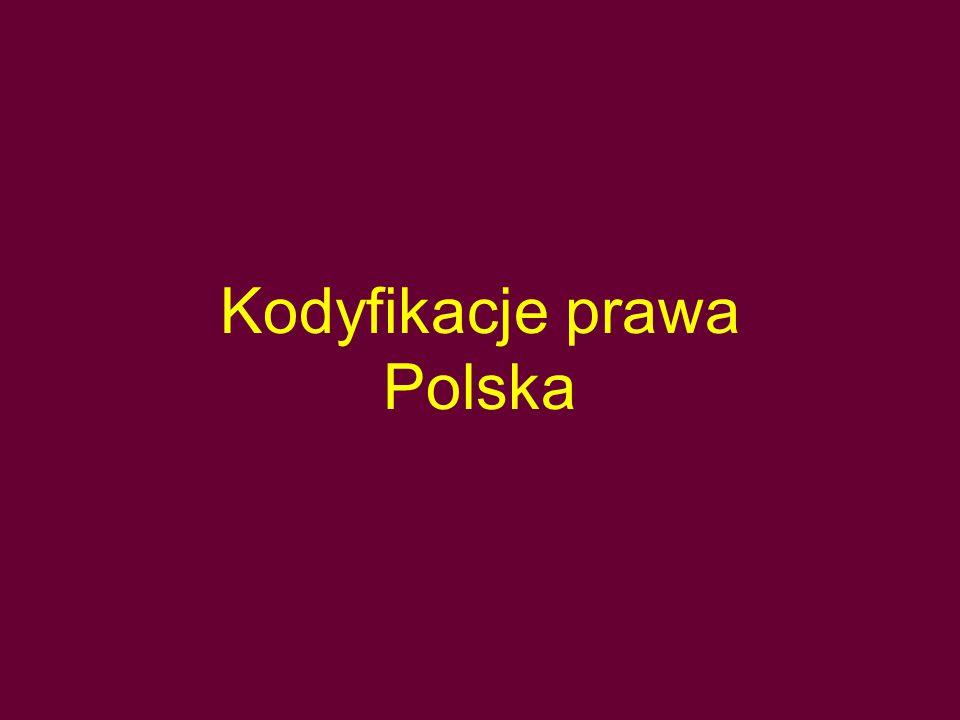 Kodyfikacje prawa Polska
