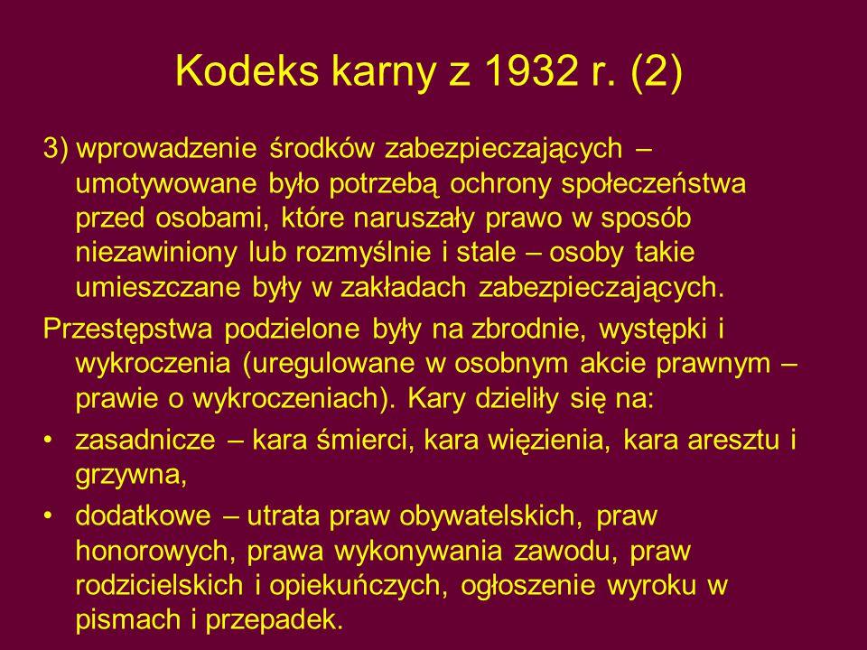 Kodeks karny z 1932 r. (2)