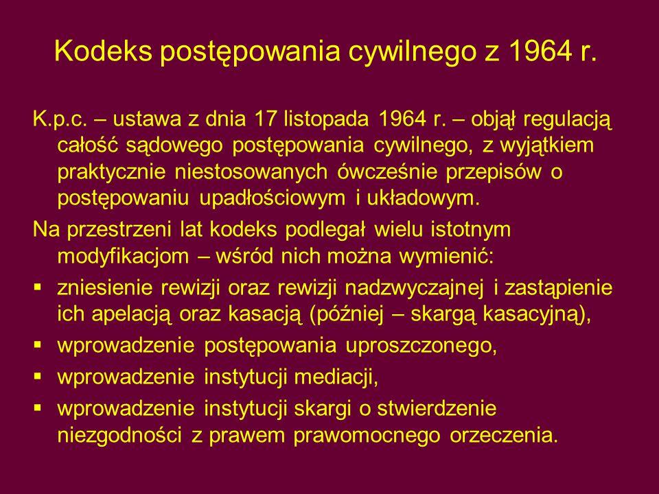 Kodeks postępowania cywilnego z 1964 r.