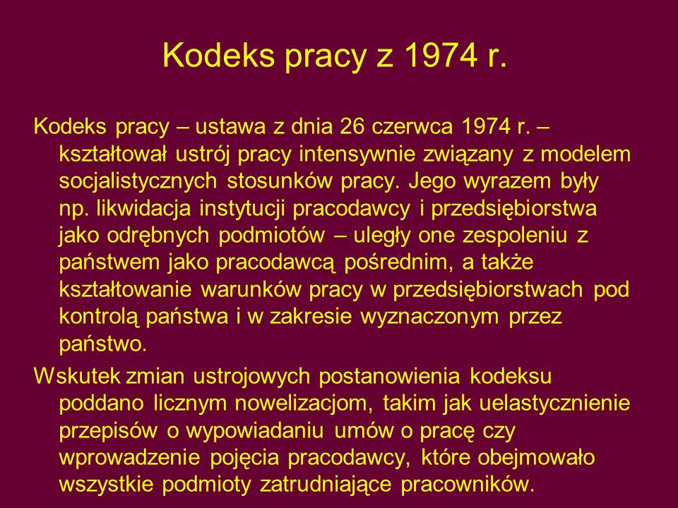 Kodeks pracy z 1974 r.