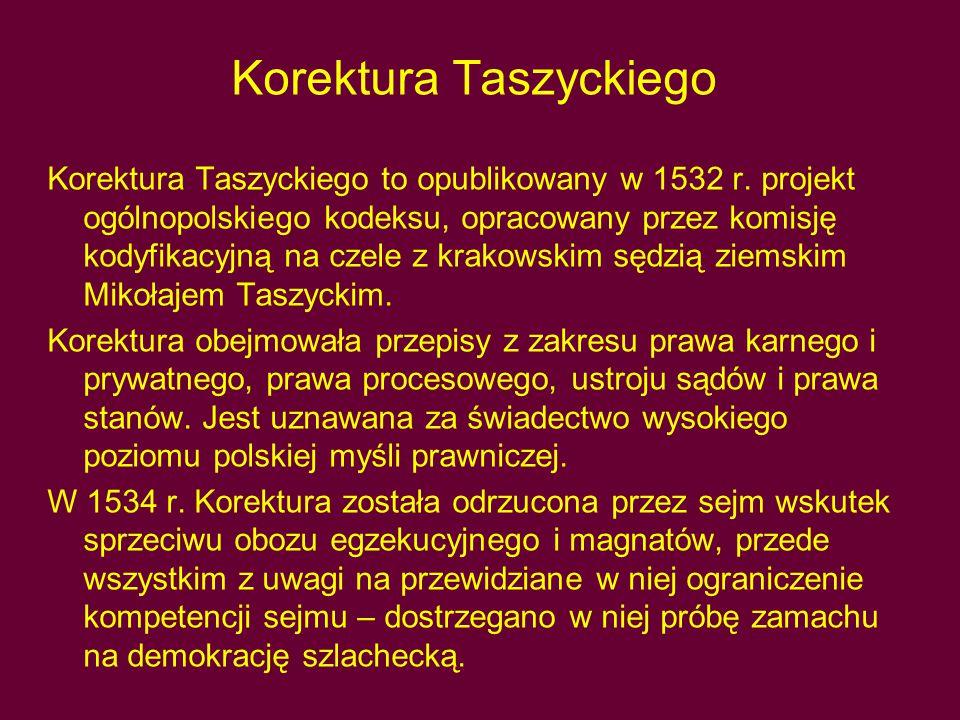Korektura Taszyckiego