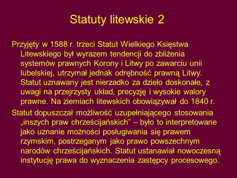 Statuty litewskie 2